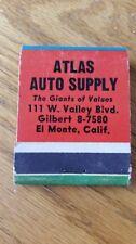 Atlas Auto Supply Vintage Match Book Holder