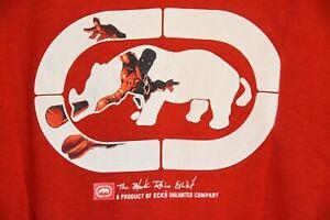 Vintage Marc Ecko 1990's DAREDEVIL Marvel Mens T Shirt size XL Black Rhino Logo