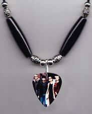 U2 Band Photo Guitar Pick Necklace