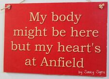 Body Anfield Liverpool Reds EPL Football Soccer Wooden Wall Bar Pub Sign