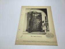 Original Stromberg Carlson Deco Radio Paper 240 L Console
