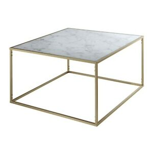 Convenience Concepts Gold Coast Marble Coffee Table, Gold/Marble - 413482M