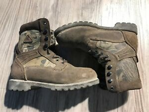 "☕Rocky Camo Boots Youth 5W 6"" Hiking Hunting Lace Up Thinsulate Waterproof 3614"