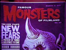 16mm Film FORREST ACKERMAN FAMOUS MONSTERS Stock Footage Television Si-Fi Horror