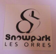 """Autocollant """"Snowpark Les Orres"""""""