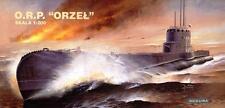 ORP Orzel (Eagle) - Segunda Guerra Mundial Pulir Azul Marino submarino 1/200 Accura Rara!