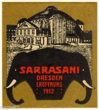 POSTER STAMP GERMAN SARRASANI CIRCUS 1912 DRESDEN ELEPHANTS