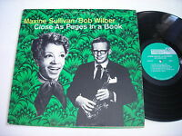 Maxine Sullivan and Bob Wilber Close as Pages in a Book 1969 Stereo LP