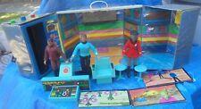 Star Trek 1974 Mego Action Figure Lot Enterprise Case Lt Uhura Dr. McCoy Klingon