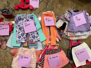 """Huge Lot of 18"""" Doll Clothing Over 80 Items Our Generation, American Girl"""
