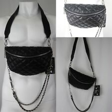 Steve Madden New Fanny Pack Waist Bag Quilted Black Adjustable Size Purse Womens
