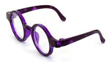 """Purple Circle Frame Glasses for 14.5"""" American Girl Wellie Wishers Doll Clothes"""