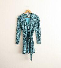 vintage Diane von Furstenberg DVF Graphic Print Silk Wrap Dress size 2
