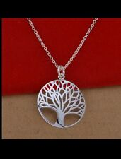 UK STAMPD 925 silver TREE OF LIFE necklace LOVER FRIEND christmas valentine GIFT