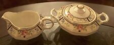 Vintage Edwin M. Knowles Sugar Bowl and Creamer China Co. Vitreous