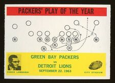 1964 Philadelphia #84 Green Bay Packers Play card w/Vince Lombardi RC NM