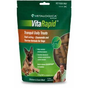2 X VETALOGICA VitaRapid for Dogs Tranquil Daily Treats 210g Non-Drowsy Formula
