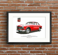 Volvo Amazon 122s Arte Cartel Tamaño A3