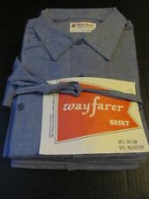 6 Vintage 60s Chambray Shirts size Medium Deadstock