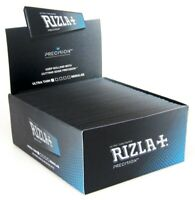RIZLA PRECISION KING SIZE TOBACCO Rolling Papers BLACK 110mm Ultra Thin ECO SLIM