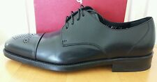 SALVATORE FERRAGAMO Men Black Leather Captoe Oxford  Sz 10-D $ 1,100