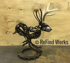 Scrap Metal Jackalope Welded Art Sculpture