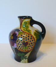 Dutch Holland Gouda Floral High Glaze Art Pottery Jug