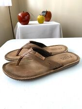 Flojos Men's Alonzo Sandals Cognac Brown Size 10 US