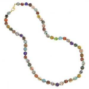 GlassOfVenice Murano Glass Sommerso Long Necklace - Multicolor