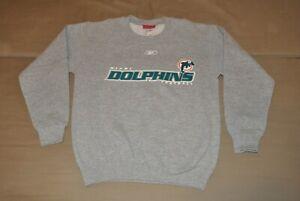 Reebok Miami Dolphins Boys Youth Sweatshirt (L) Shirt T-Shirt Jersey (14/16) NFL