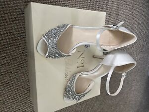 No.1 Jenny Packham wedding shoes ivory embellished paris debenhams size 4