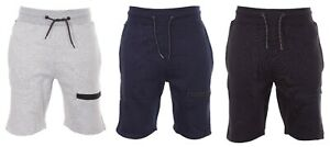 Men's Plain Gym Fleece Thigh Zip Pocket Lounge Jersey Shorts Jogging