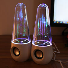 Dancing Water LED Show Music Fountain Light White Speakers For laptops PC Phone