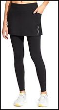 NEW Athleta LP L Petite Black Be Free 2 in 1 Running Tights Pants Skirt Large