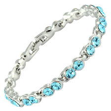Xmas 5 Colors HOT Fashion Rhinestone Tennis Bracelet (Extended Clasp)