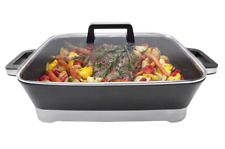 Large Electric Banquet Frypan Roast Vegetables Non-Stick Adjustable Temp Control