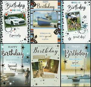 'MALE' BIRTHDAY GREETING CARD - QUALITY - FOILED MULTIPLE DESIGN'S - FREE P&P