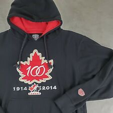 Old Time Hockey L Hoodie Sweatshirt Canada NHL  Causeway Collection Patch Black