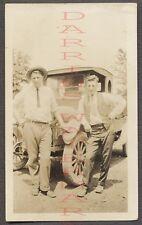 Vintage Photo Men w/ REO Speedwagon Truck 673489