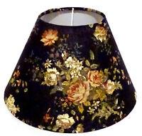 Lampenschirm/ Tischleuchte/Stehlampe/ Shabby / Blumen / Schwarz / Stoff / E14