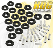 Universal Bumper Head Light Jdm Bolt Screw Anodized Black 20 Piece Fender Washer