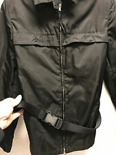 super nice PRADA belted jacket coat women's S small black