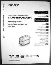 Sony dcr-dvd610 dcr-dvd710 dcr-dvd810 operation guide manual | ebay.