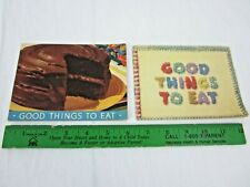 Good Things to Eat Martha Lee Anderson Arm & Hammer 1938 1943 Lot of 2 Recipe