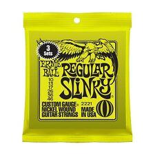 Ernie Ball 3 Pack Regular Slinky Níquel Herida Cuerdas para Guitarra Eléctrica 10-46