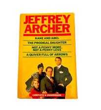 JEFFREY ARCHER 4-in-1 Book~HB~Complete~Kane & Abel/Prodigal Daughter + More 1987