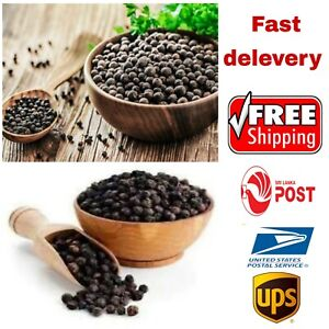 100% natural black Pepper whole seeds corns ceylon organic premium pure spices
