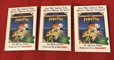 Lot of 3 Walt Disney's Peter Pan Dvd/Video Wal-Mart Pin Back Button Movie