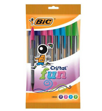 Bic crystal fun pack of 10 colour pens