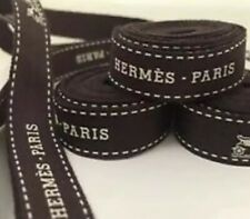 1 HermÈS brown gift Wrap ribbons .5� Width Approx 36� Inches Or 1 Yard
